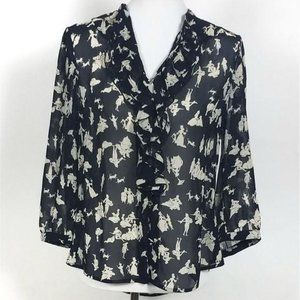 Anthropologie HD In Paris Picea Blouse Size 8